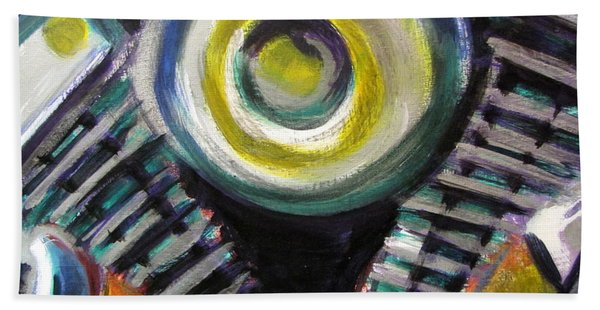 Motorcycle Abstract Engine 2 Beach Towel