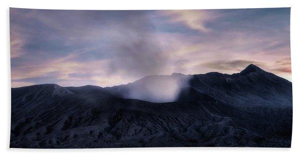 Mount Bromo After The Sun - Java Beach Towel