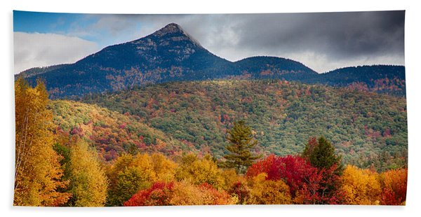 Beach Towel featuring the photograph Peak Fall Colors On Mount Chocorua by Jeff Folger