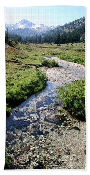 Mountain Meadow And Stream Beach Sheet