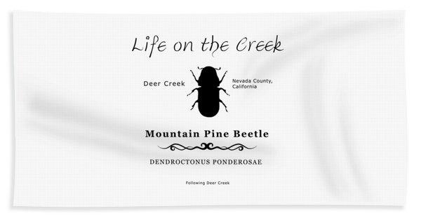Mountain Pine Beetle Black On White Beach Towel