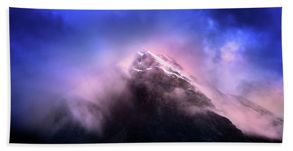 Mountain Twilight Beach Sheet