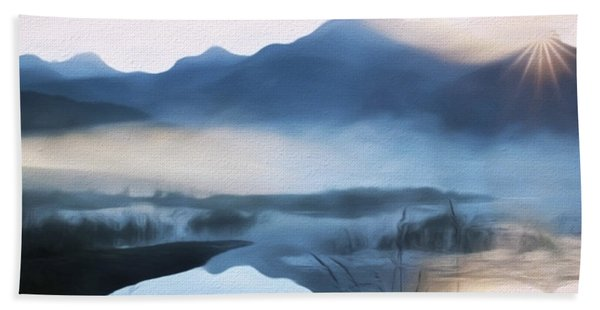 Moving Forward - Inspirational Art Beach Sheet
