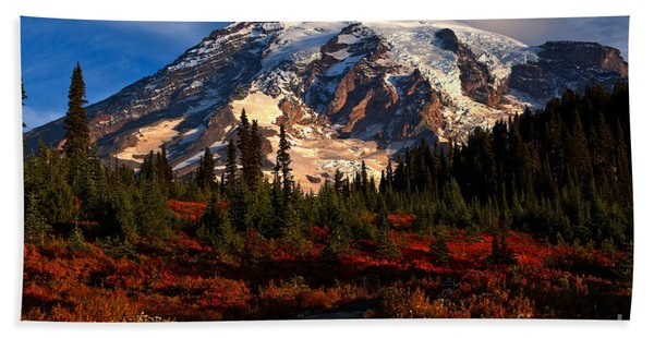 Mt. Rainier Paradise Morning Beach Towel