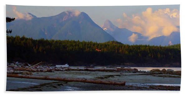 Multileval Photography In One Land Water Trees Mountain Clouds Skyview Olympic National Park America Beach Towel