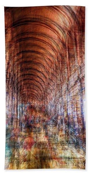 multiple exposure of Dublin public library  Beach Towel