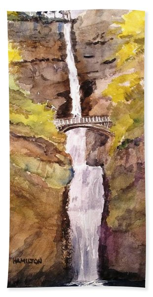 Multnomah Falls Beach Towel