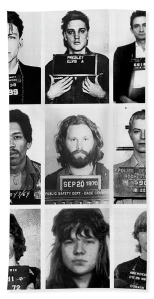 Musical Mug Shots Three Legends Very Large Original Photo 9 Beach Towel
