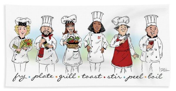 My Chefs In A Row-ii Beach Sheet