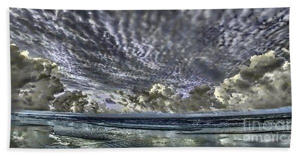 Myrtle Beach Hand Tinted Panorama Sunrise Beach Towel