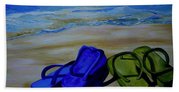Naked Feet On The Beach Beach Towel
