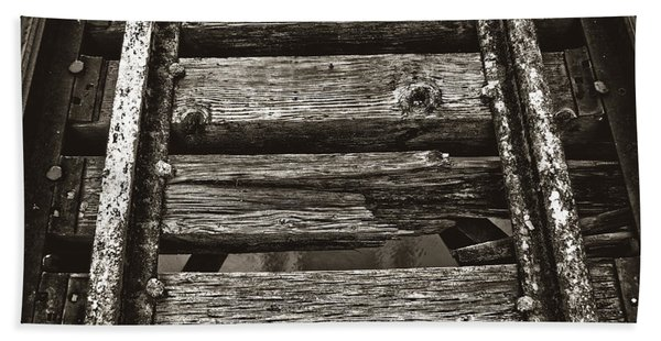 Narrow Gauge Tracks #photography #art #trains Beach Towel