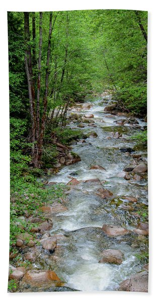 Naturally Pure Stream Backroad Discovery Beach Sheet