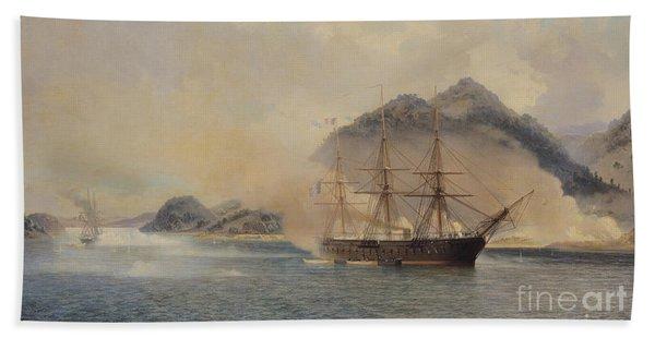 Naval Battle Of The Strait Of Shimonoseki Beach Towel
