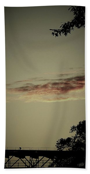 Negative Space Beach Towel