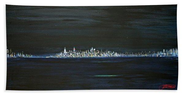 New York City Nights Beach Towel