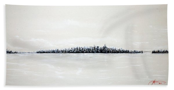 New York City Skyline 48 Beach Towel