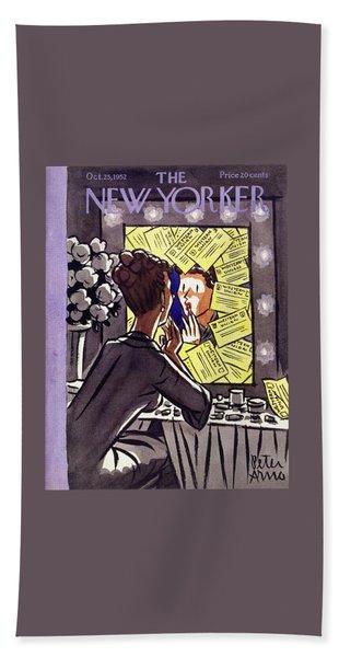 New Yorker October 25 1952 Beach Towel
