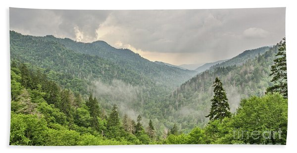 Newfound Gap In Great Smoky Mountains National Park Beach Towel
