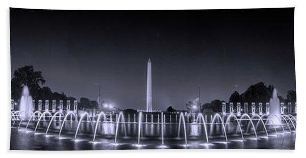 Night At Washington Dc Beach Towel