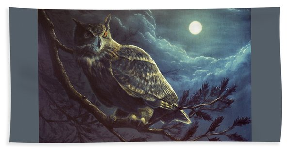 Night Owl Beach Towel