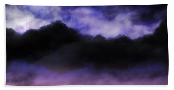 Beach Towel featuring the painting Nightfall by Mark Taylor