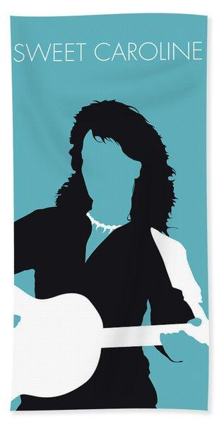 No145 My Neil Diamond Minimal Music Poster Beach Towel