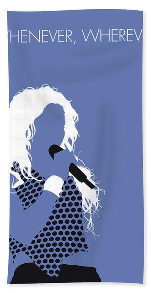 No168 My Shakira Minimal Music Poster Beach Towel