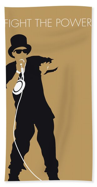 No180 My Public Enemy Minimal Music Poster Beach Towel