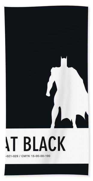 No20 My Minimal Color Code Poster Batman Beach Towel