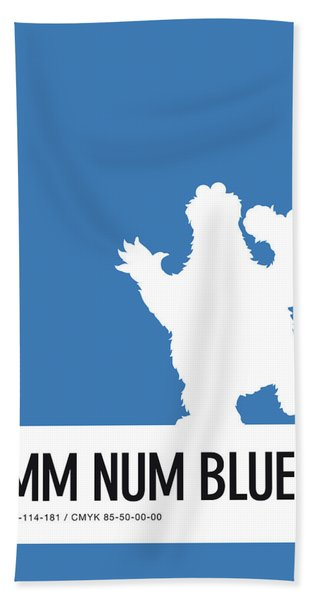 No29 My Minimal Color Code Poster Cooky  Beach Towel