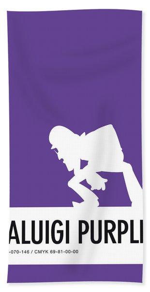 No42 My Minimal Color Code Poster Waluigi Beach Towel