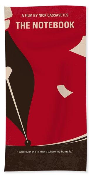 No440 My The Notebook Minimal Movie Poster Beach Towel