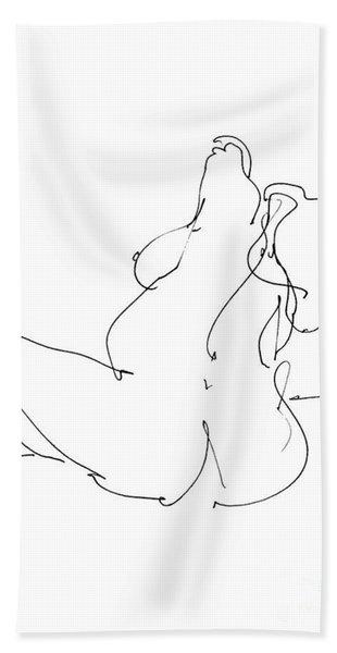 Nude-female-drawings-20 Beach Towel