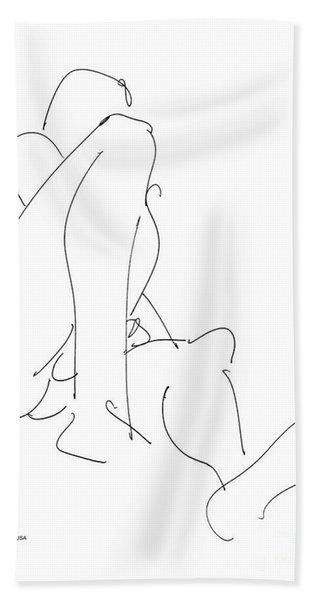 Nude-male-drawing-12 Beach Towel