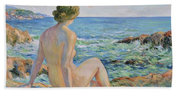 Nude On The Coast Monaco Beach Towel