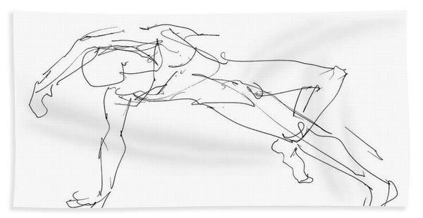 Nude_male_drawings_23 Beach Towel