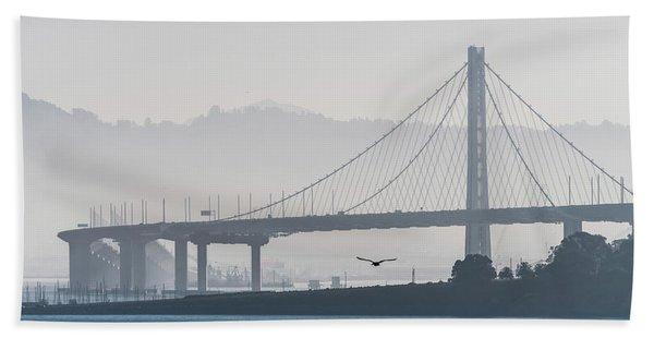 Oakland Bay Bridge Beach Towel