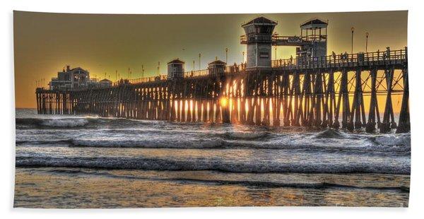 Oceanside Pier Hdr  Beach Towel