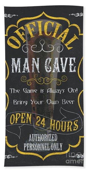 Official Man Cave Beach Towel