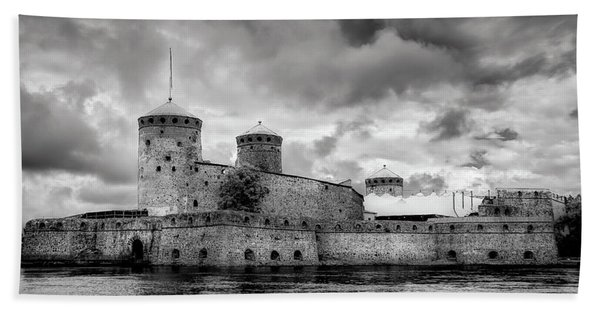 Olavinlinna Castle Beach Towel