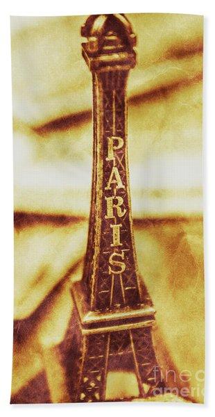 Old Paris Decor Beach Towel