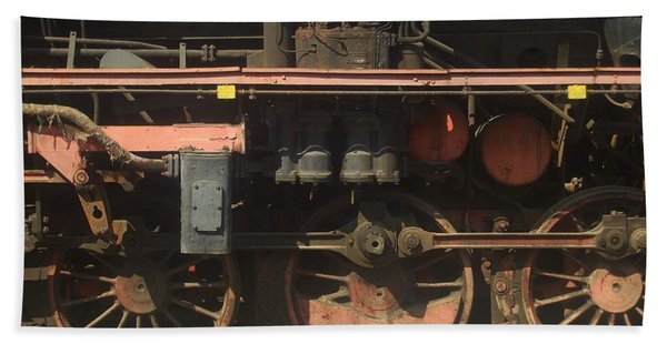 Old  Steam Train ...france Beach Towel