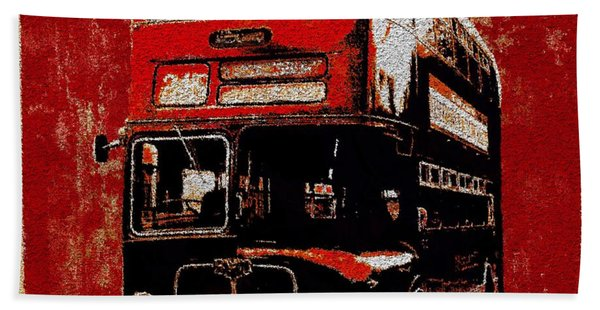 Beach Towel featuring the painting On The Bus by Mark Taylor