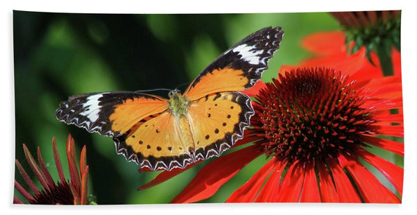 Orange Lacewing Beach Towel