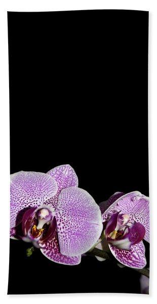 Orchid Blooms Beach Sheet
