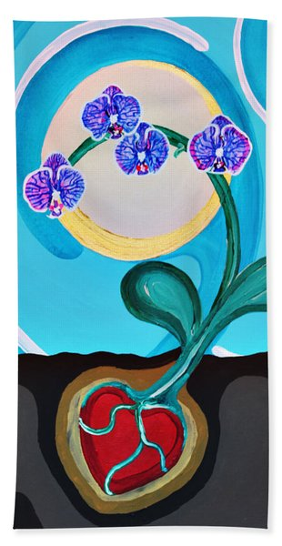 Orchids For My Love Beach Towel