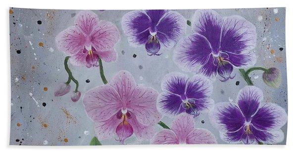 Orchids Galore Beach Towel