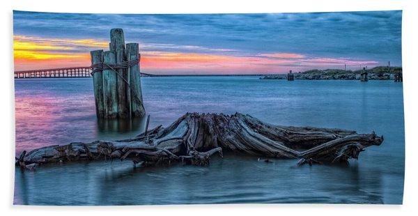 Oregon Inlet II Beach Towel