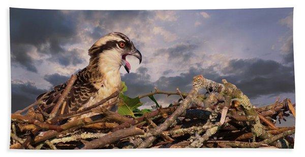 Osprey Talk Beach Towel